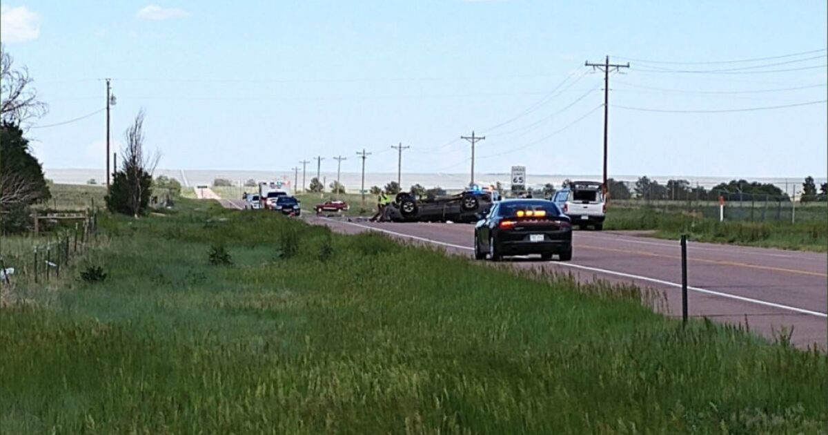 Adult, child seriously injured in rollover crash on Highway 94