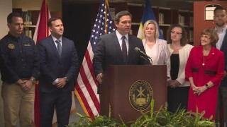 Florida Gov. Ron DeSantis holds a news conference at Indian River State College in Fort Pierce on July 22, 2021.jpg