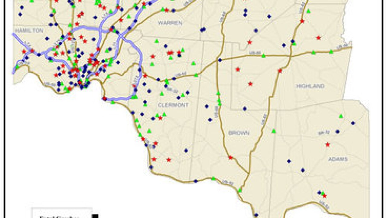 MAP: Where do most Cincy drivers crash?