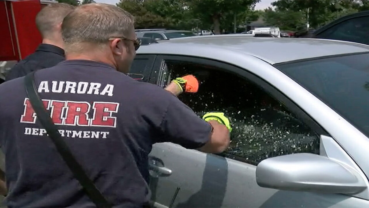 Firefighters rescue girl trapped inside hot car