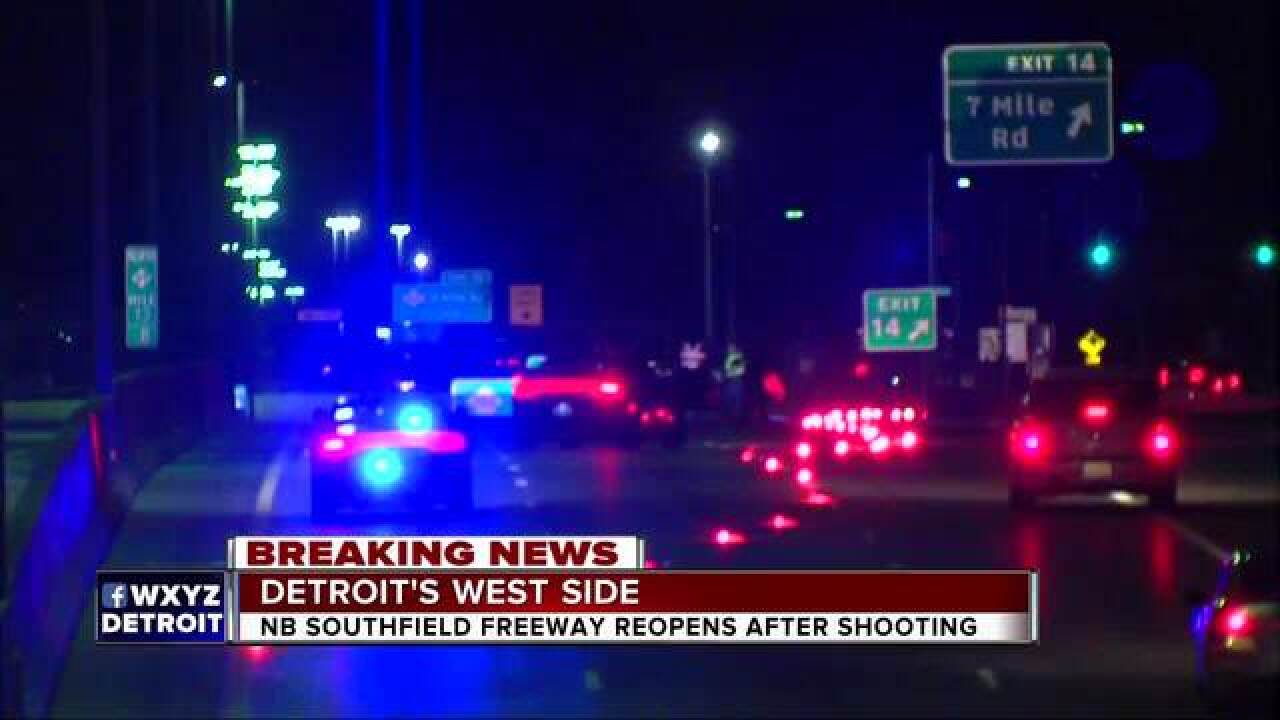 Two shot while driving on Southfield Freeway