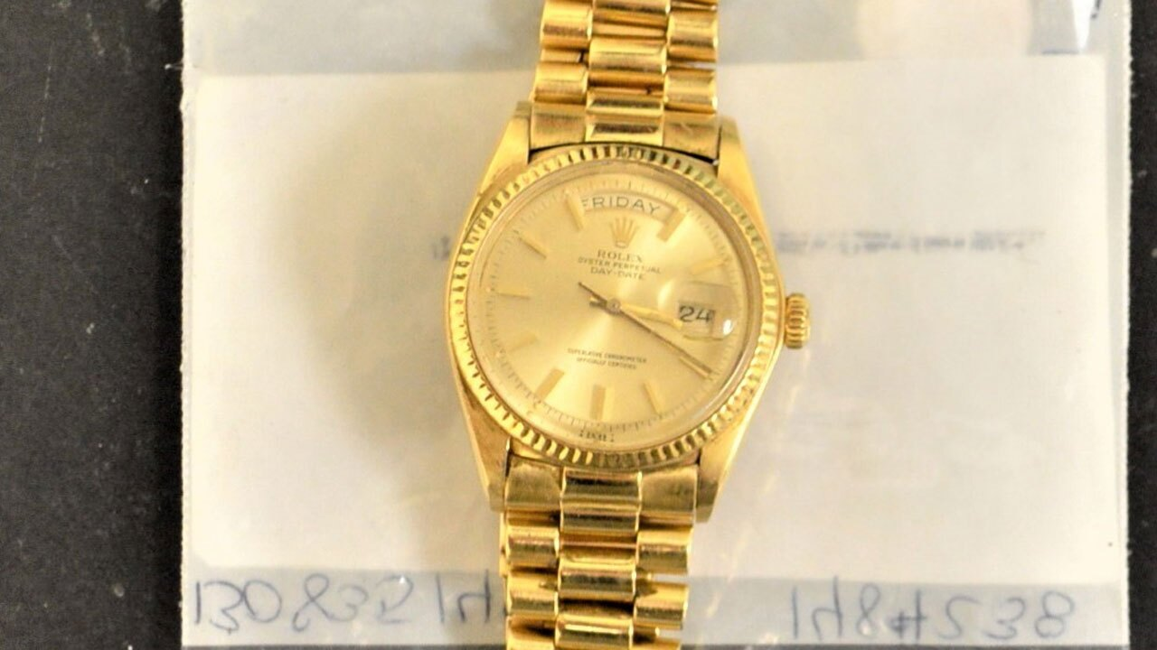 Gold watch up for auction by state on Sept. 25, 2021