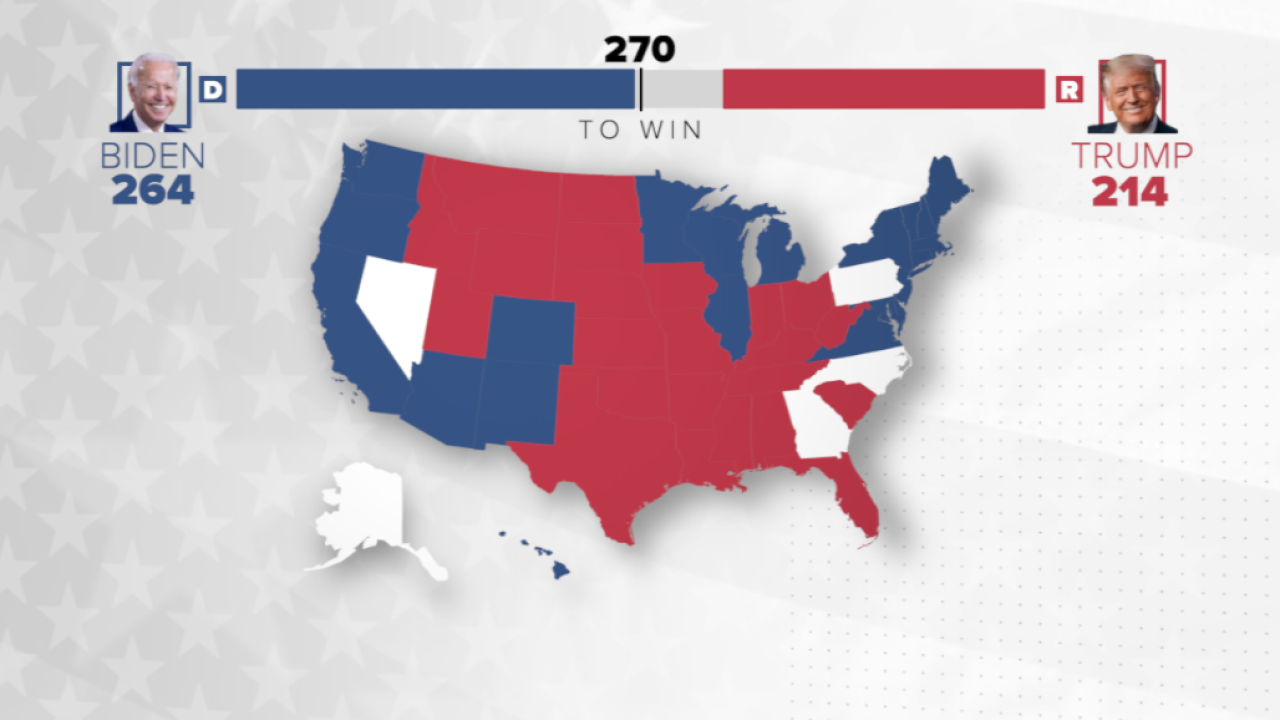 Live updates: States are beginning to be called for Joe Biden, Donald Trump