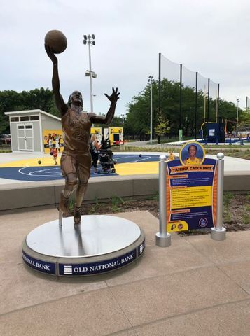 PHOTOS: Bronze Sports Legend Statues at Indy Children's Museum