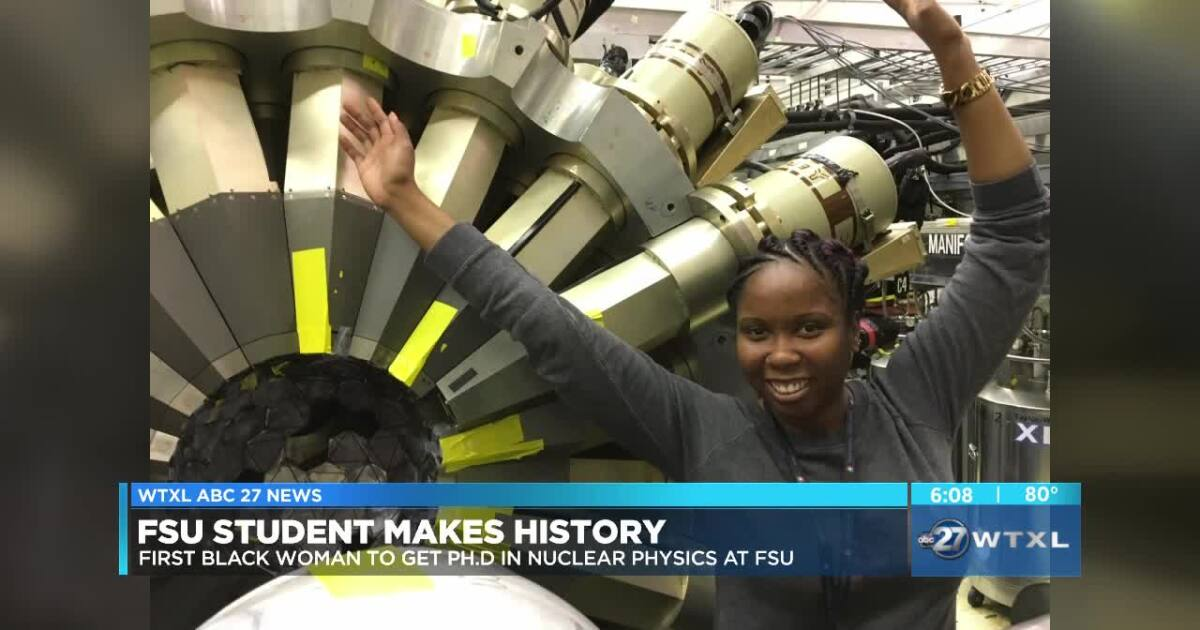 Student will become first black woman to get doctoral degree