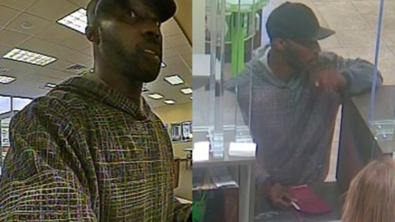 Police search for persistent bank robber
