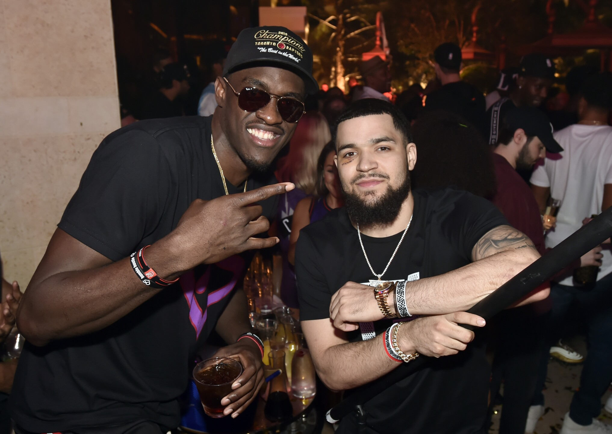 The Toronto Raptors Head To Wynn Las Vegas To Celebrate NBA Championship Win At XS Nightclub With Drake And The Chainsmokers