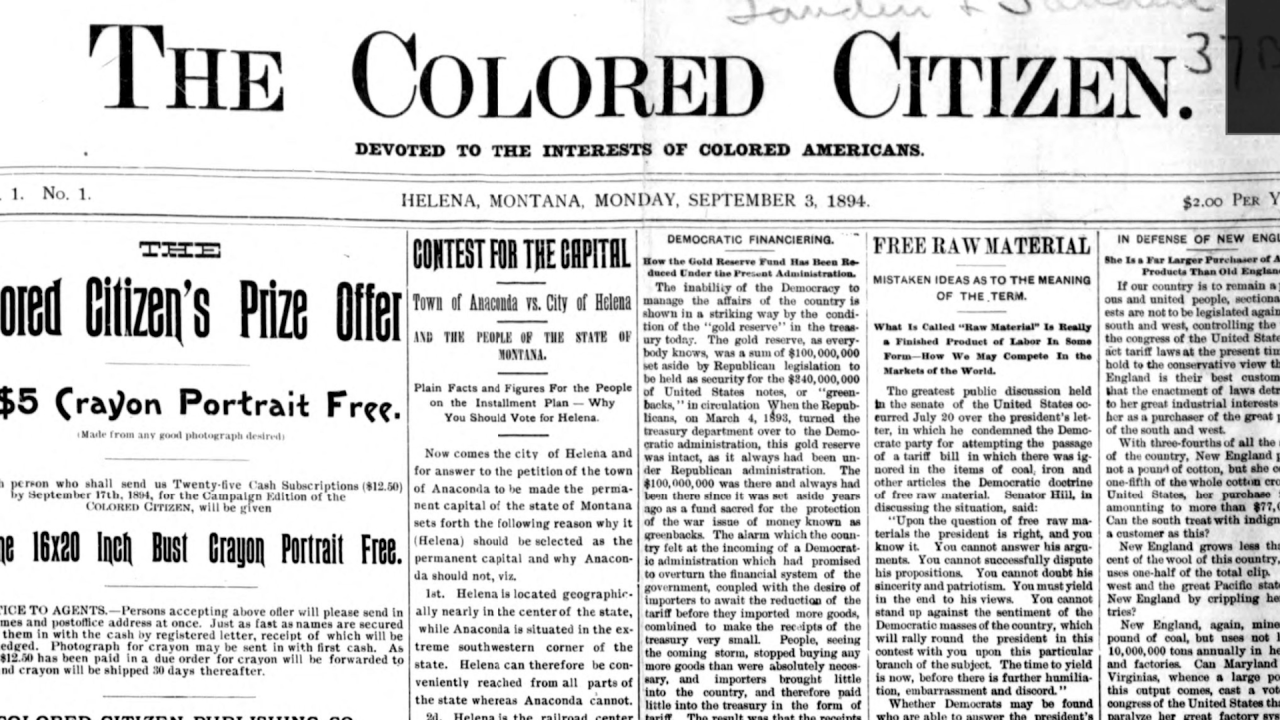 "The first issue of ""The Colored Citizen"""