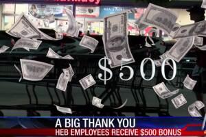 HEB gives $500 bonus to employees
