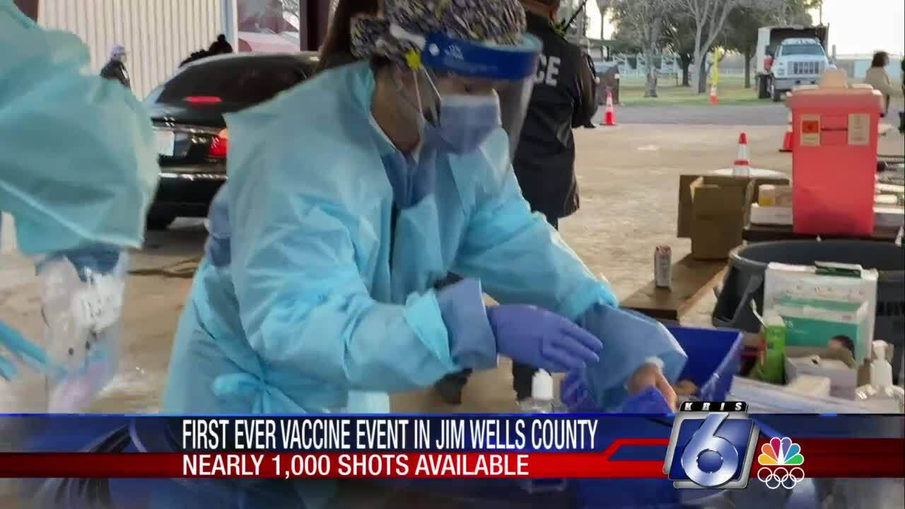 Vaccine distribution started today for the first time in Alice