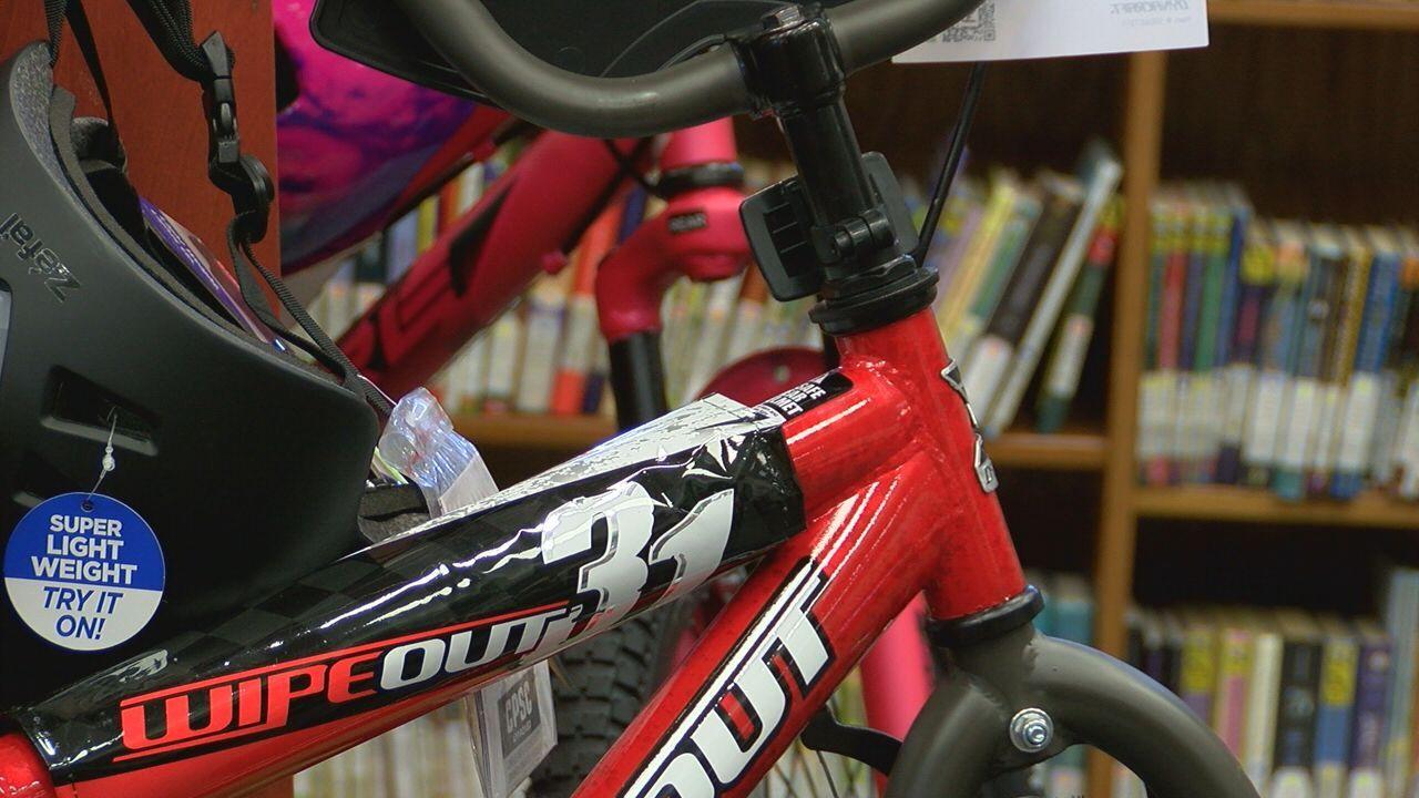Bike in library