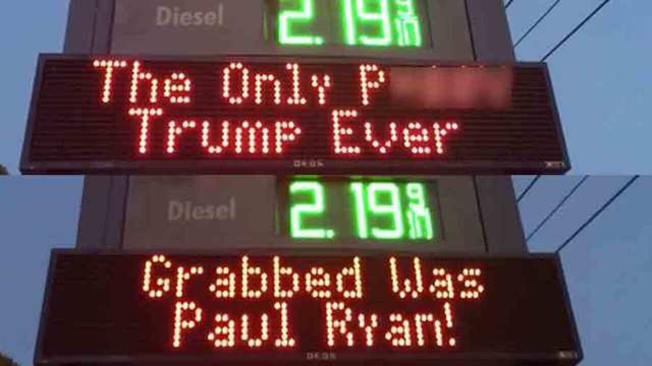 Shell de-brands gas station over pro-Trump signs