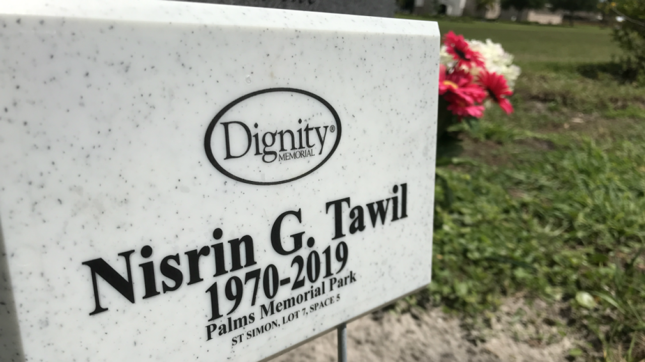 Nisrin Tawil grave marker