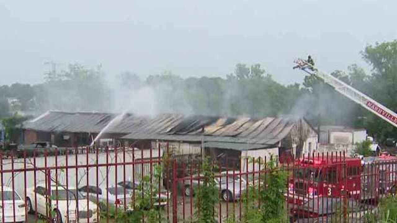 Hilltop Auto Salvage >> Crews Fight Fire At Hilltop Auto Salvage