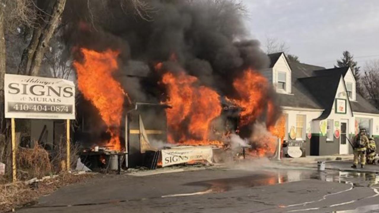 Sykesville business fire