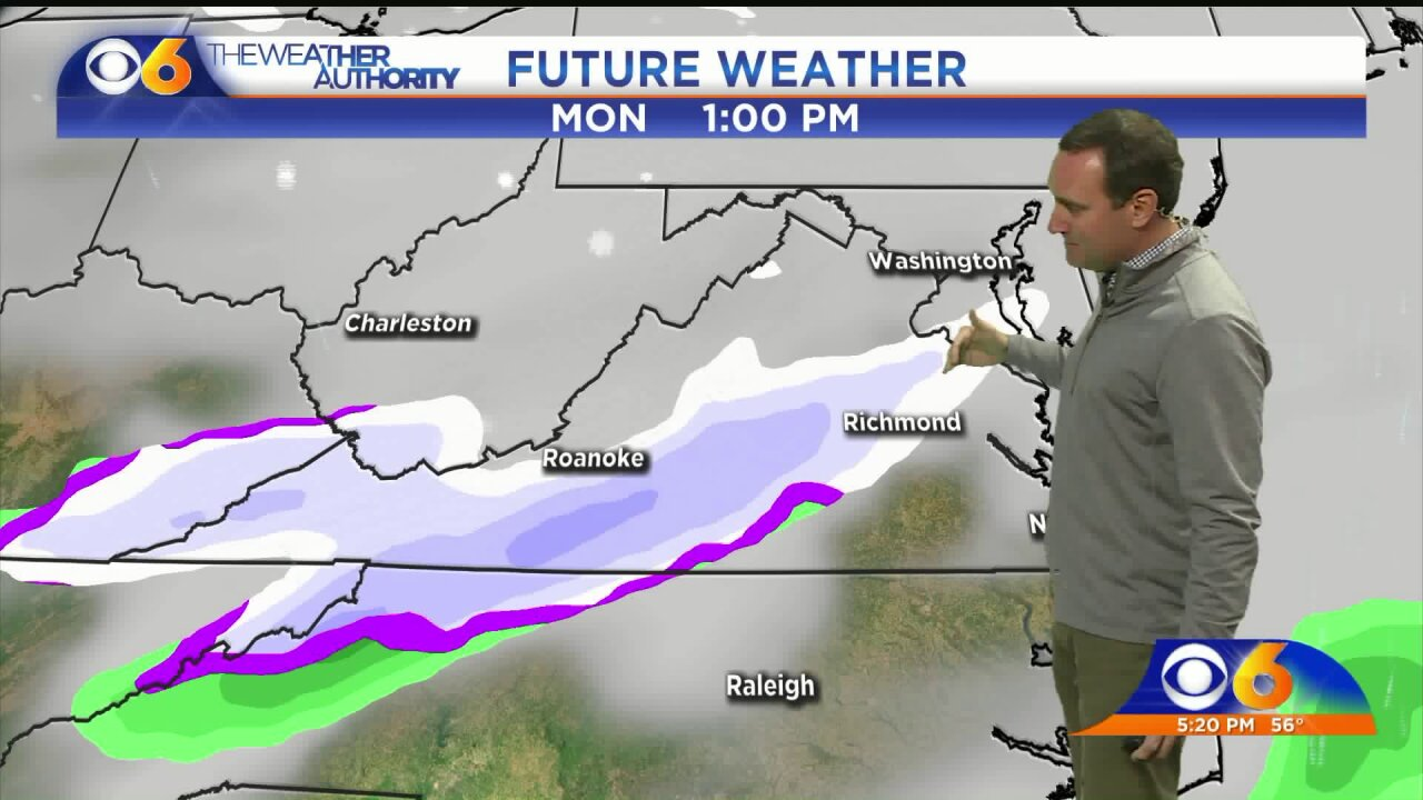 Zach Daniel talks November snow in Virginia forecast