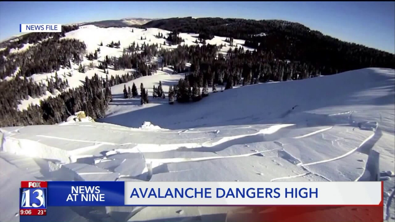 Avalanche danger high in parts of Utah after holiday weekend storm