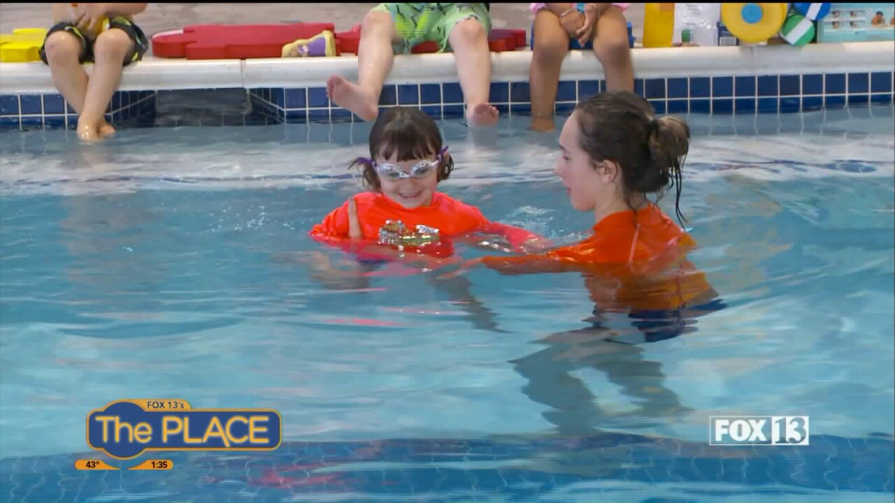 Your kids learn swimming safety with Goldfish Swim School