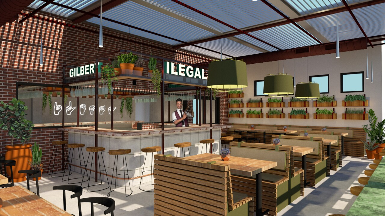 Ilegal Modern Cocktail Kitchen rendering