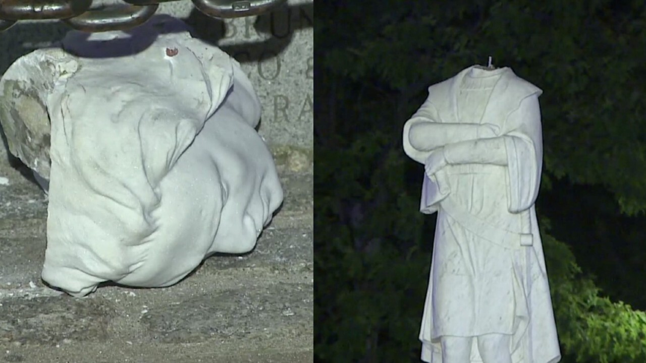 Christopher Columbus statue beheaded in Boston is latest figure to be vandalized