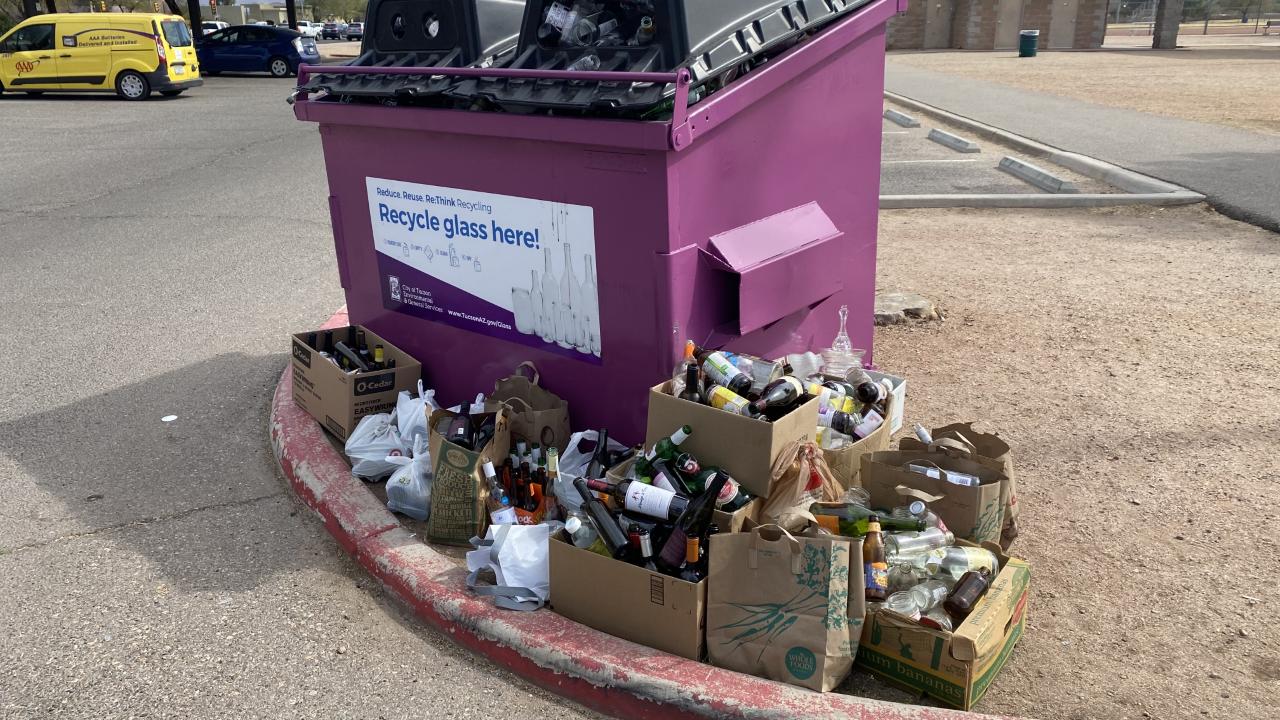 Tucson Glass Recycling Bin