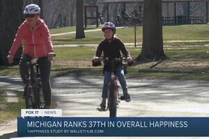 Michigan ranks 37th in overall happiness