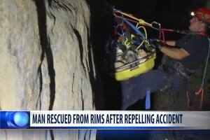 Man rescued from Rims