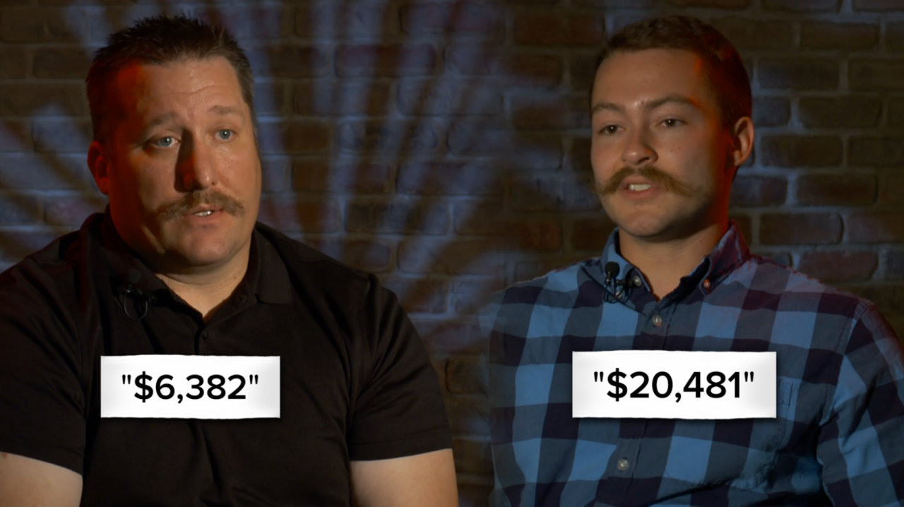 Morgan County compensation for Captain Patrick Murphy (left) and Deputy Chief Jaden Ingle (right) in 2020.