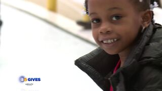 Families ice skate for free as part of the CBS 6 Month of Giving