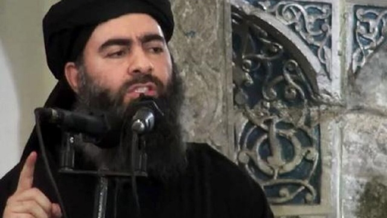 Islamic State group leader rallies his fighters in Mosul