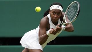 Coco Gauff at Wimbledon, July 1, 2021