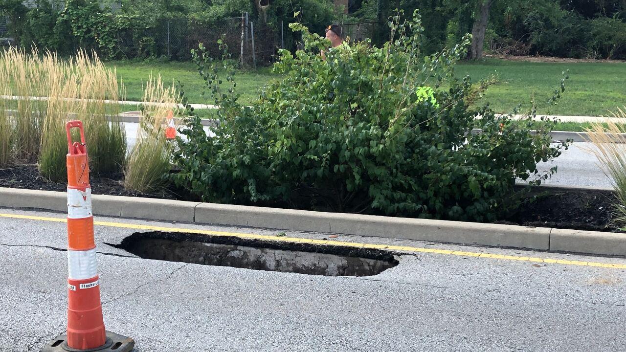 Road Collapse Evanston
