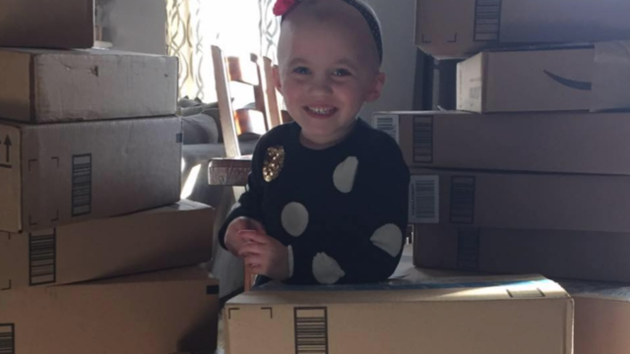 4-year-old with cancer hosts giant toy drive