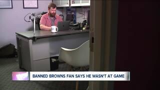 Browns fan banned