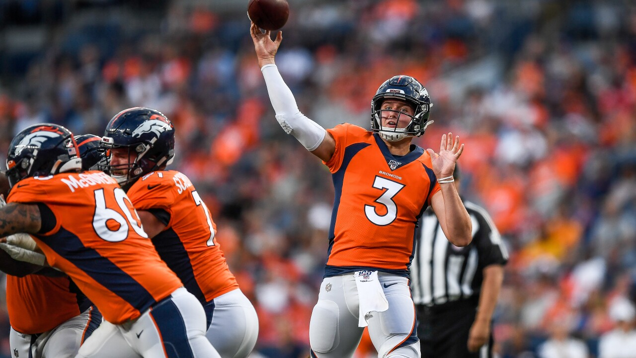 Broncos' Drew Lock excited to return, take that 'first hit'