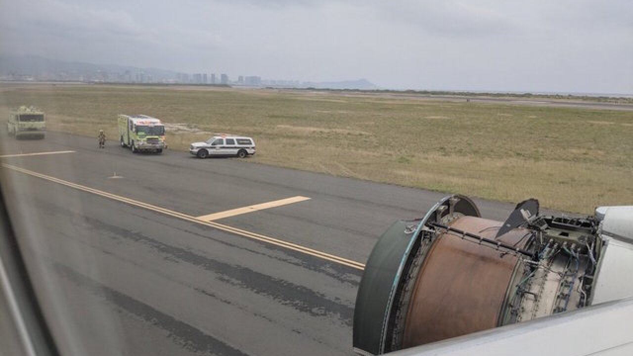 United flight loses engine cover, makes emergency landing in Honolulu