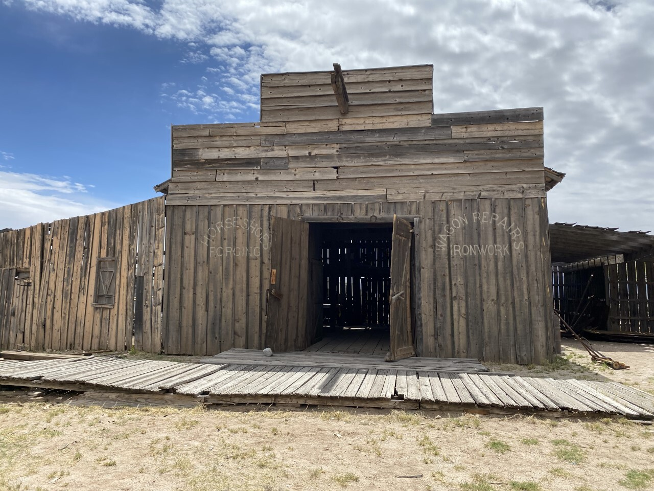 Stable at Mescal Movie Set has already been restored