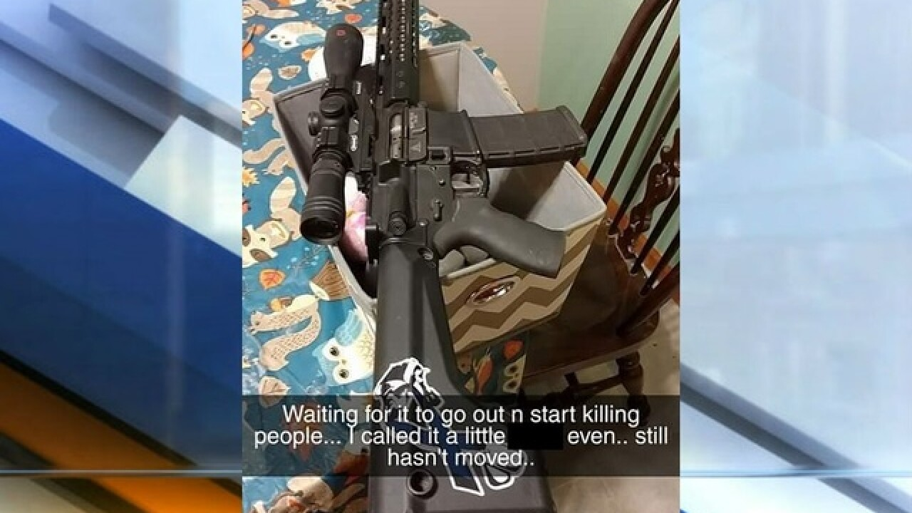 Teen's 'pro-gun' post on Snapchat causes concern