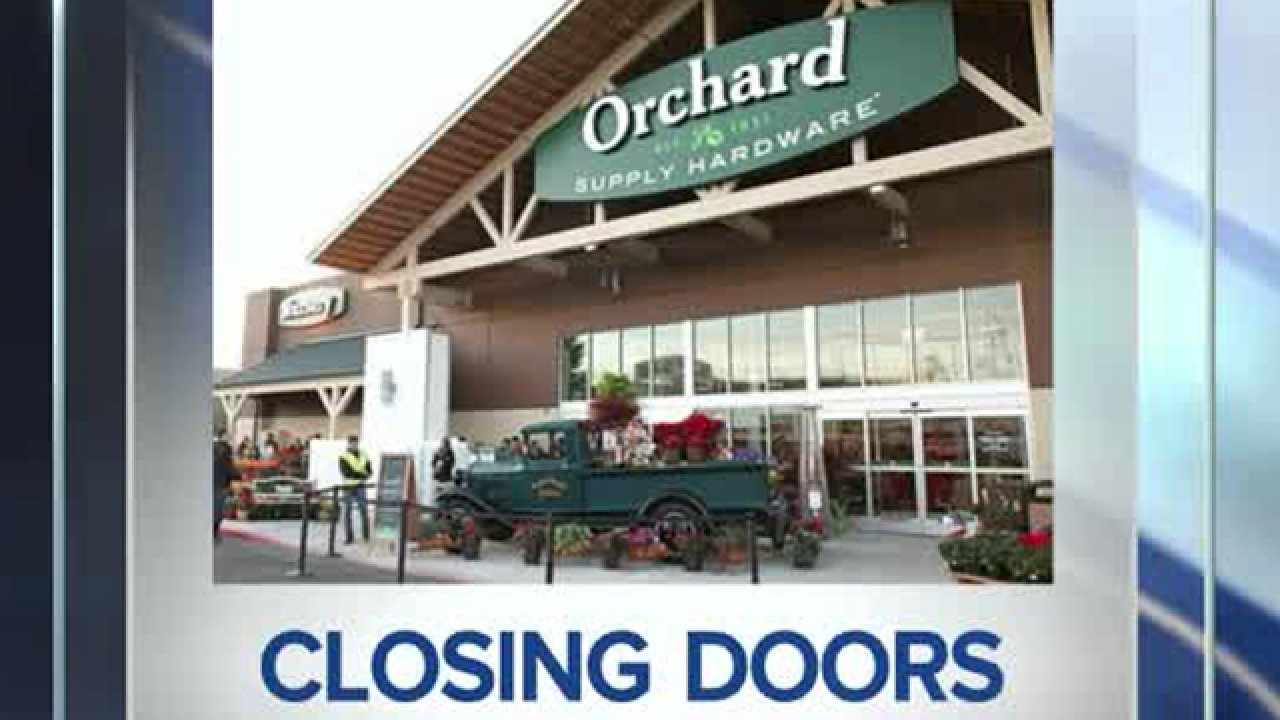 Orchard Supply Hardware stores closing