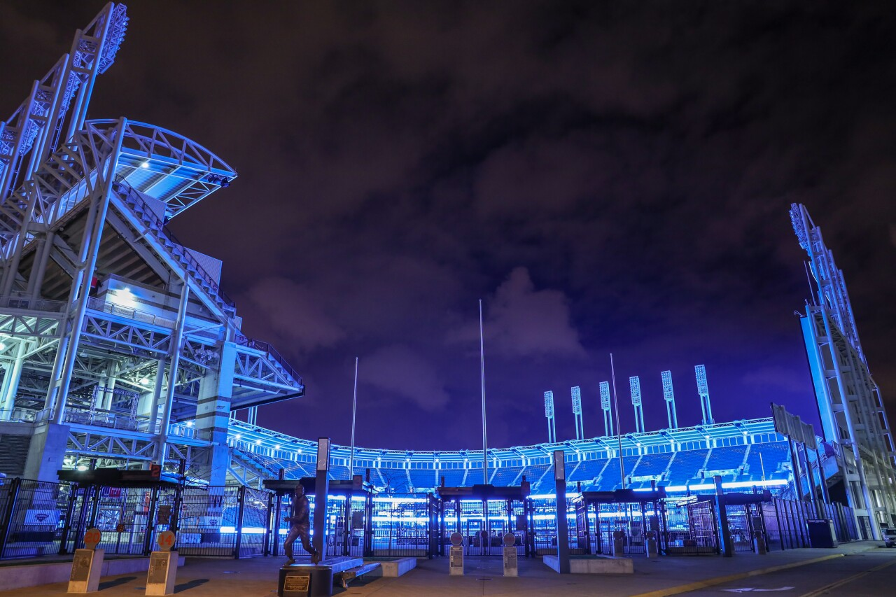 Light up Blue Cleveland to support all the healthcare workers.