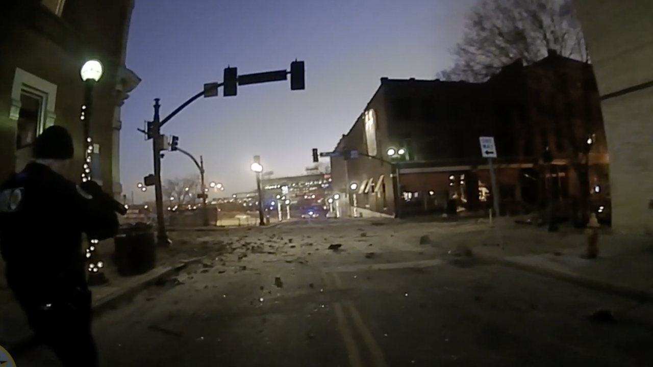 explosion body cam screenshot