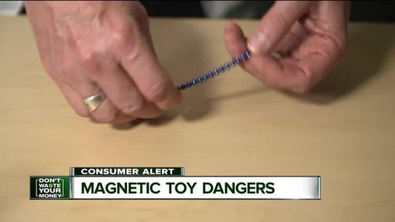 Magnetic toy danger