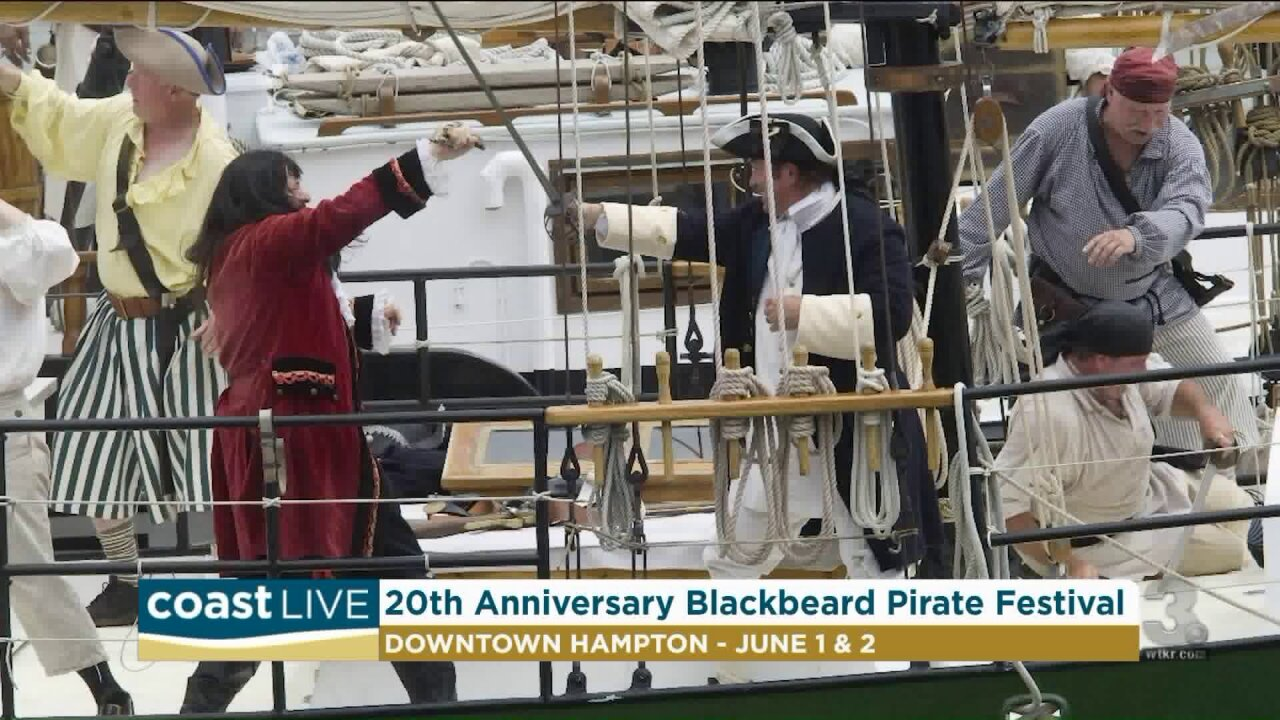 Pirate history and previewing the 20th Anniversary Blackbeard Pirate Festival on CoastLive