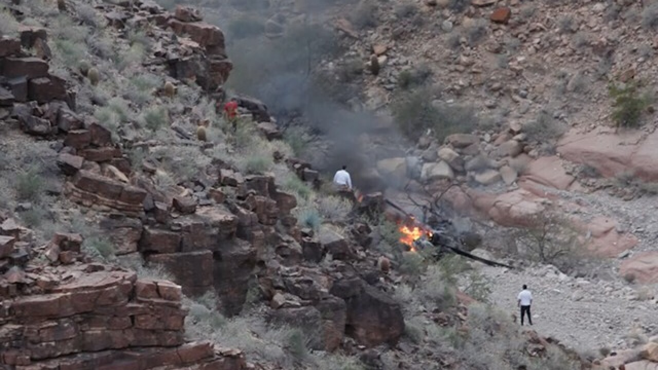 PD: Four remain hurt in Grand Canyon crash