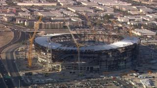 allegiant stadium aerial