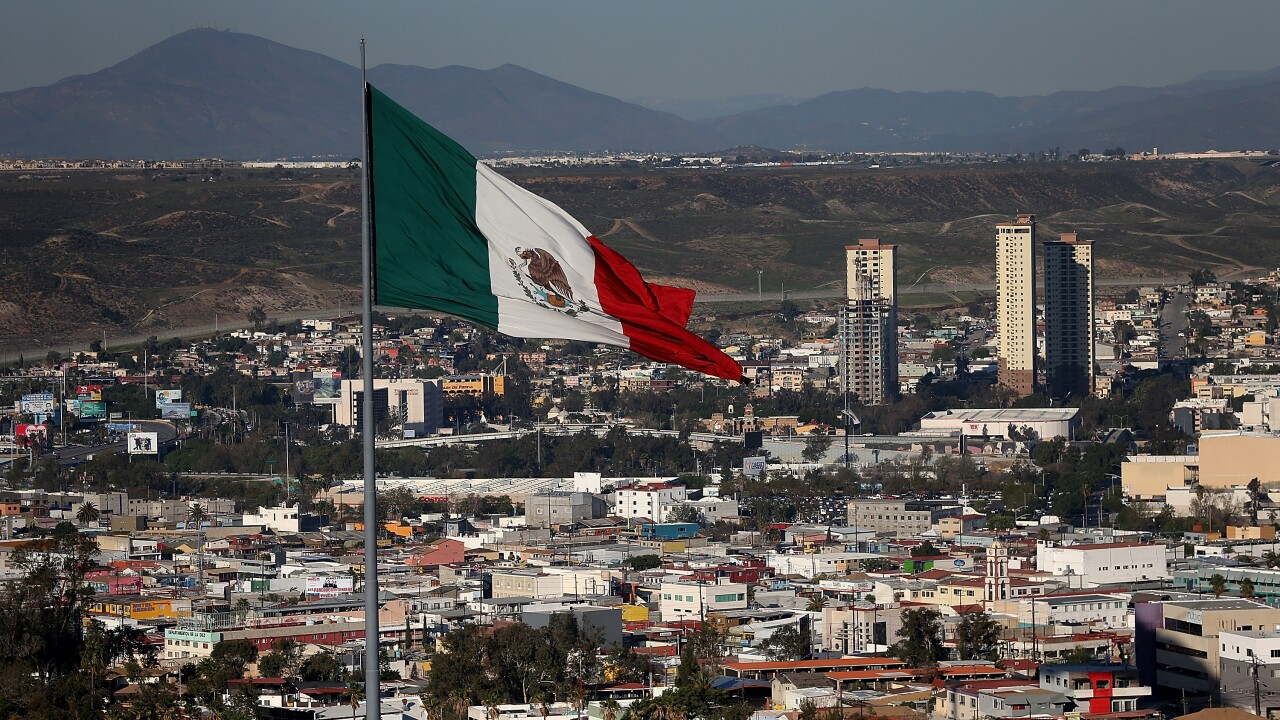 Mexican flag in Tijuan