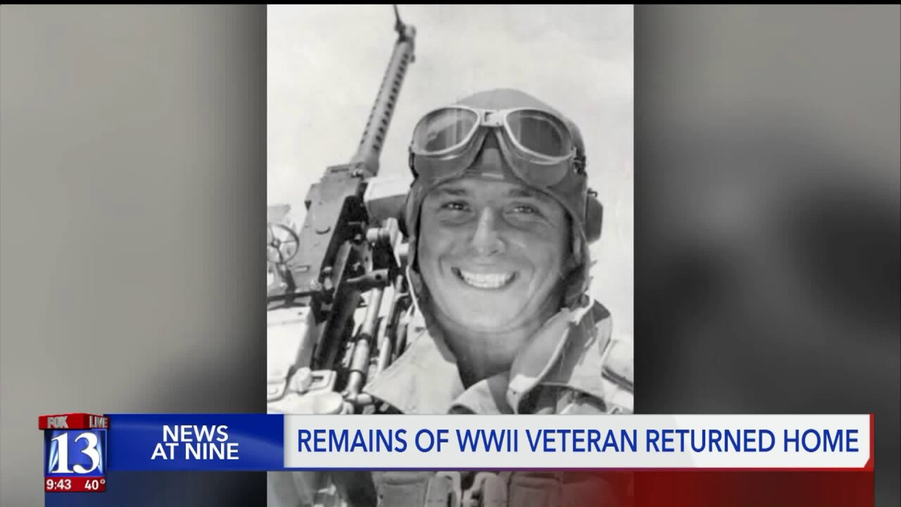 Remains of WWII soldier from Utah return home, 76 years after he died in combat