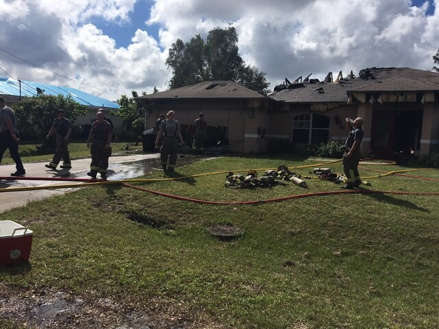 Photos: Lehigh Acres house fire on Zenith Circle