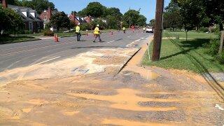 Water main break closes Dumbarton Road lanes inHenrico