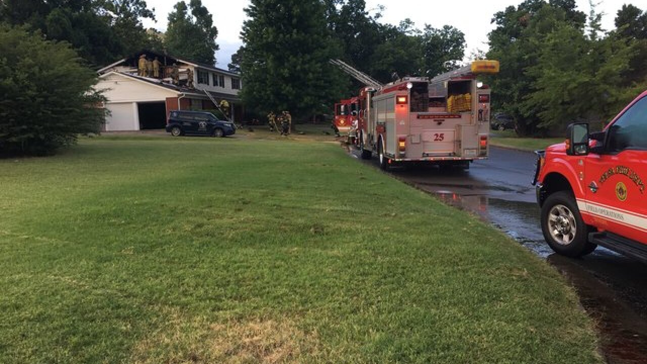 Crews fight house fire in south Tulsa